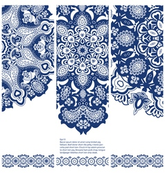 Set of banners with ethnic ornament vector