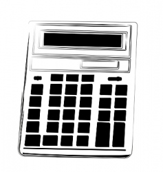 Illustration calculator vector