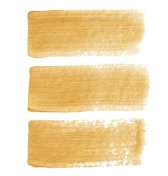 Gold acrylic brush strokes vector