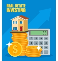 Property investment concept house and real estate vector