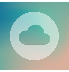 Cloud transparent icon meteorology weather vector