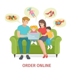 Concept for online gifts ordering vector
