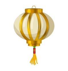 Chinese paper lantern icon in cartoon style vector