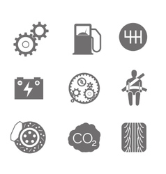 Car related icons on white vector