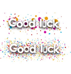 Good luck paper banners vector
