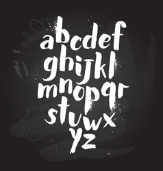 alphabet poster dry brush ink artistic modern vector image vector image