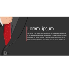 Business black suit background style vector