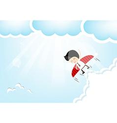 Businessman rocket vector image vector image