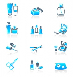 cosmetics icons marine series vector image vector image