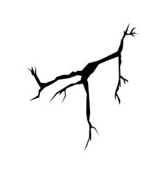Cracks black silhouette vector image