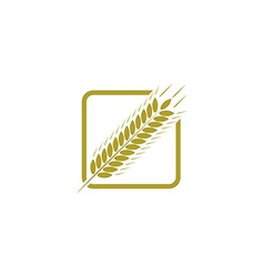Ear of wheat farm logo bread concept sign vector image
