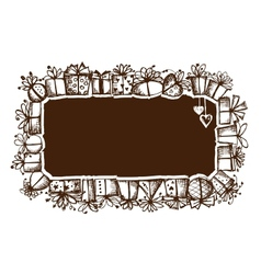 Gift boxes frame for your design vector image vector image