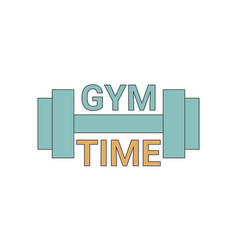 Gym time logo gym time logo vector