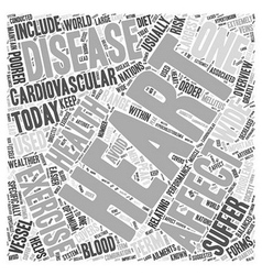 Heart disease overview word cloud concept vector