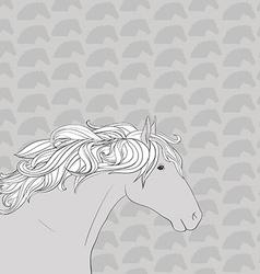 HorseHead10 vector image