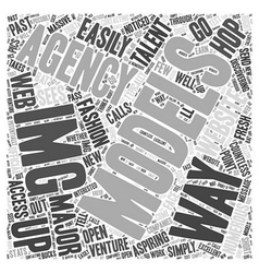 Img modeling agency word cloud concept vector