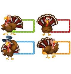 Label design with wild turkey vector