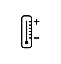 line thermometer icon on white background vector image vector image
