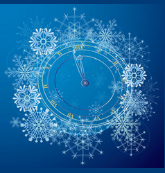 new year with clock vector image vector image