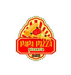 Papa pizza pizzeria italian icon vector