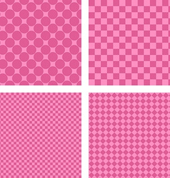 Pink simple geometric shape wallpaper set vector