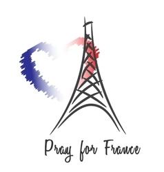 Pray for france vector