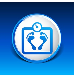 Scale icon iweight diet symbol dieting balance vector image