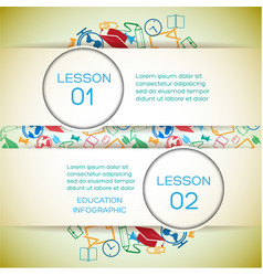 School learning infographic concept vector