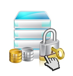 server locked vector image