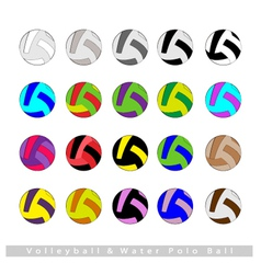 Set of Volleyball Balls or Water Polo vector image
