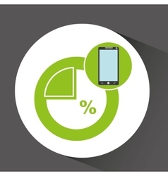 Smartphone app development percent storage vector