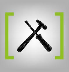 Tools sign black scribble vector