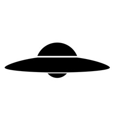 Ufo flying saucer the black color icon vector