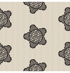 Flower lace seamless pattern net vector