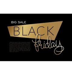 Black friday banner with vector