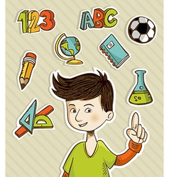 Back to School cartoon kid vector image