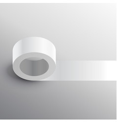 Duct tape adhesive mockup template vector