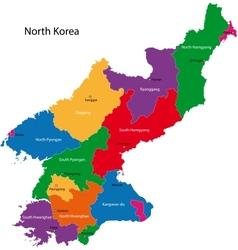 North korea map vector