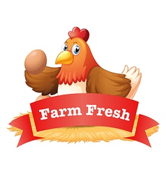 A poultry label vector image