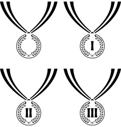 Set of stencils of medals vector