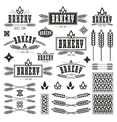 Design elements and logo for bakery vector
