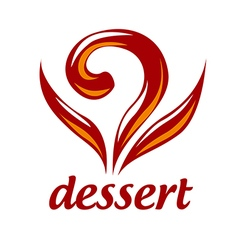 Abstract logo dessert and pastries vector