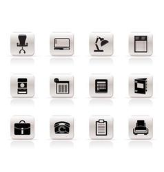simple business and firm icons vector image