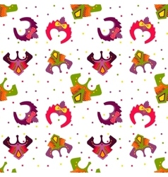 New year 2016 seamless pattern with monkey mask vector