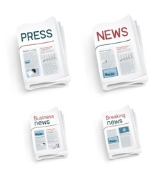 Set of newspapers vector