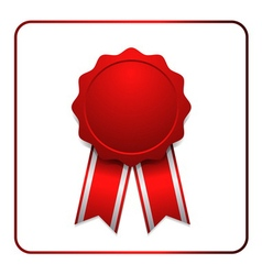 Ribbon award icon red 1 vector image