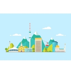 Almaty abstract skyline vector image vector image