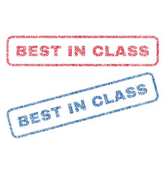 Best in class textile stamps vector