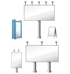 Billboards Set vector image vector image