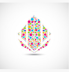 Colorful dots symbol for your business icon vector